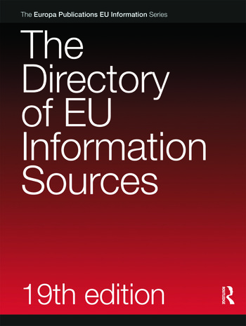 The Directory of EU Information Sources 2010 book cover
