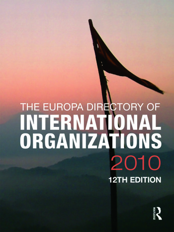 Europa Directory of International Organizations 2010 book cover