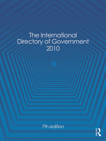 The International Directory of Government 2010 book cover