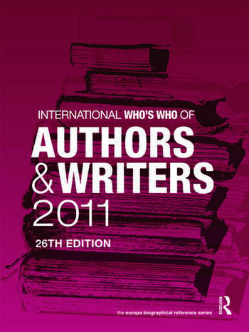 International Who's Who of Authors and Writers 2011 book cover