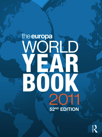 The Europa World Year Book 2011 book cover