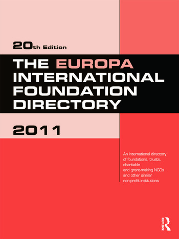 The Europa International Foundation Directory 2011 book cover