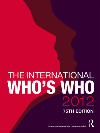 The International Who's Who 2012 book cover