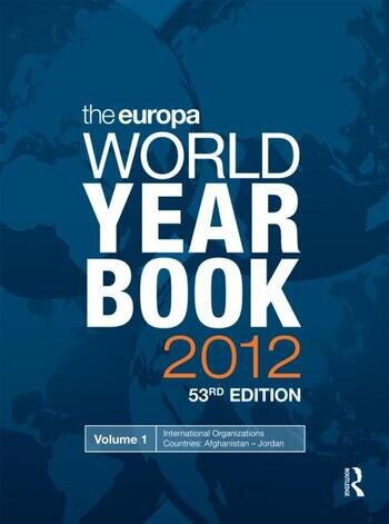 The Europa World Year Book 2012 book cover