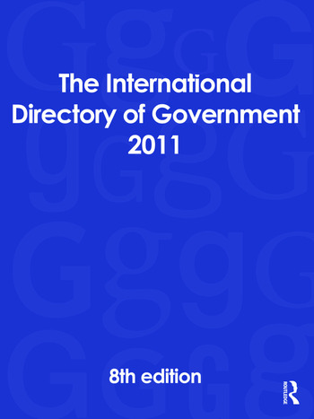 The International Directory of Government 2011 book cover