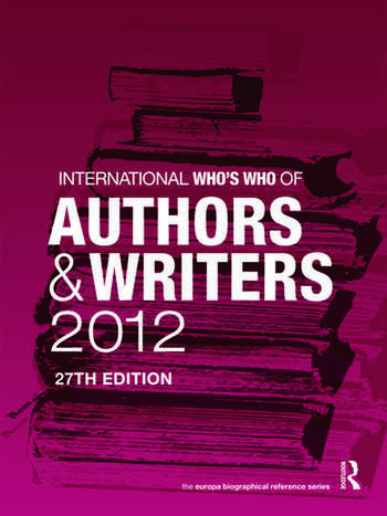 International Who's Who of Authors and Writers 2012 book cover
