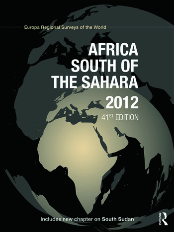 Africa South of the Sahara 2012 book cover