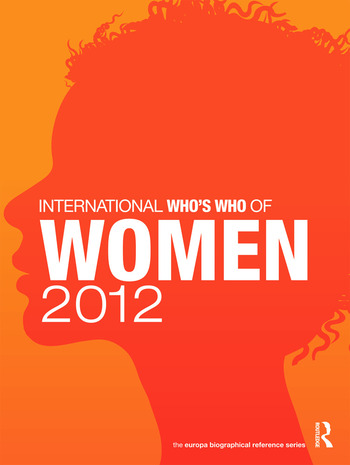International Who's Who of Women 2012 book cover