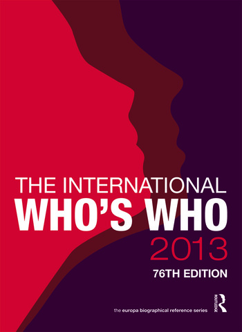 The International Who's Who 2013 book cover