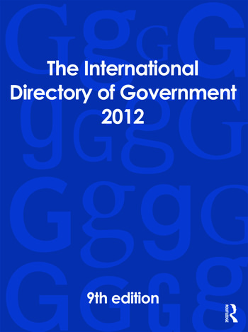 The International Directory of Government 2012 book cover