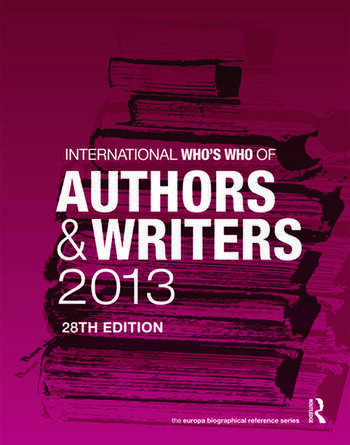 International Who's Who of Authors and Writers 2013 book cover