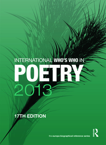 International Who's Who in Poetry 2013 book cover