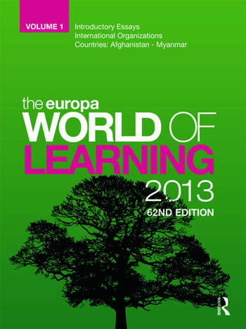 The Europa World of Learning 2013 book cover