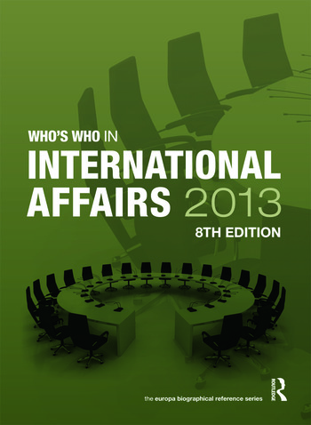 Who's Who in International Affairs 2013 book cover
