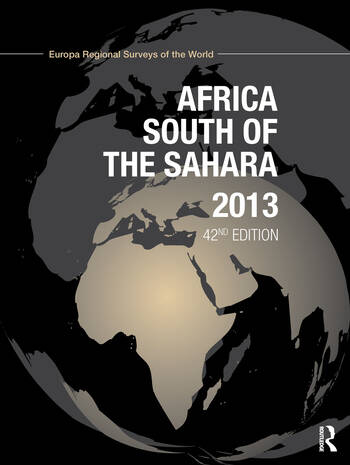 Africa South of the Sahara 2013 book cover