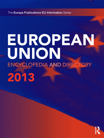 European Union Encyclopedia and Directory 2013 book cover