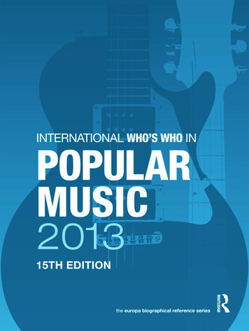 International Who's Who in Popular Music 2013 book cover