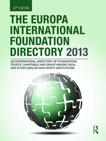 The Europa International Foundation Directory 2013 book cover