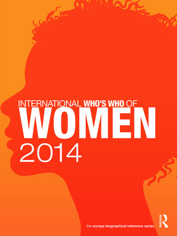 International Who's Who of Women 2014 book cover