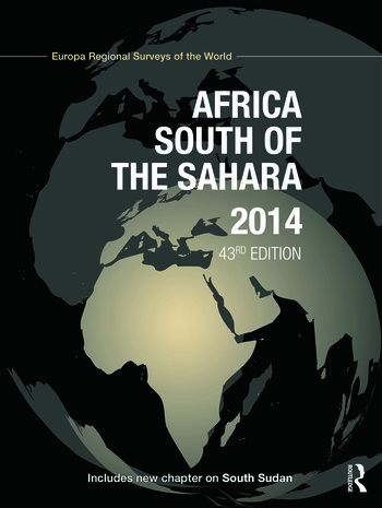 Africa South of the Sahara 2014 book cover