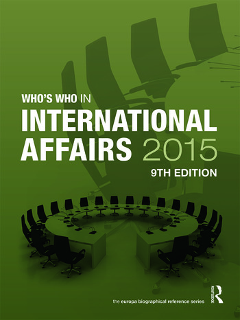Who's Who in International Affairs 2015 book cover