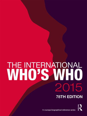 The International Who's Who 2015 book cover