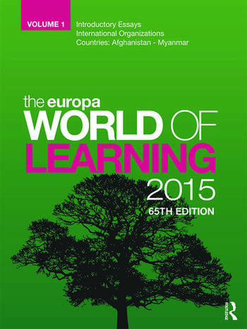 The Europa World of Learning 2015 book cover