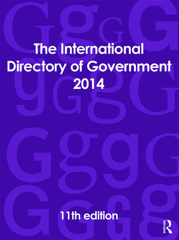 The International Directory of Government 2014 book cover