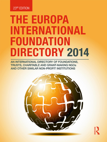The Europa International Foundation Directory 2014 book cover