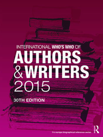 International Who's Who of Authors and Writers 2015 book cover