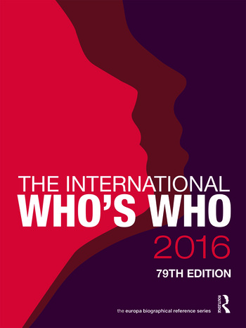 The International Who's Who 2016 book cover