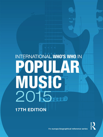 International Who's Who in Popular Music 2015 book cover