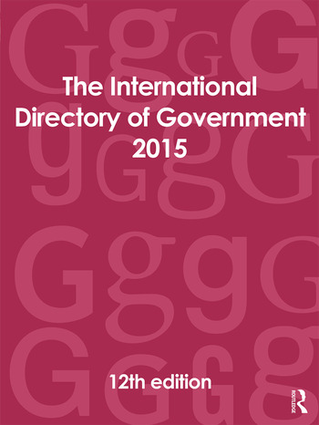 The International Directory of Government 2015 book cover