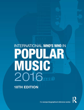 International Who's Who in Popular Music 2016 book cover