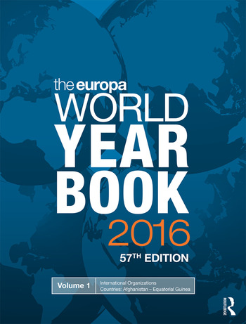The Europa World Year Book 2016 book cover