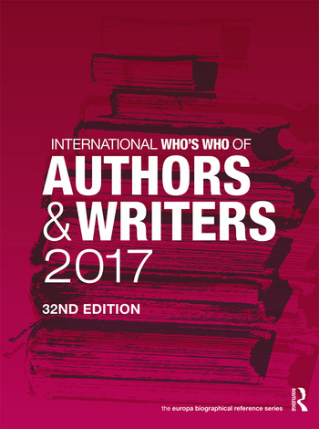 International Who's Who of Authors and Writers 2017 book cover
