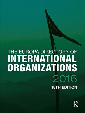 The Europa Directory of International Organizations 2016 book cover