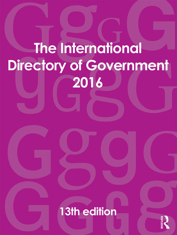 The International Directory of Government 2016 book cover
