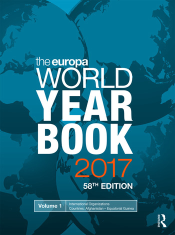 The Europa World Year Book 2017 book cover