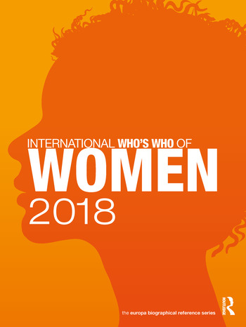 International Who's Who of Women 2018 book cover