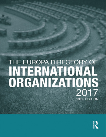 The Europa Directory of International Organizations 2017 book cover