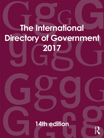 The International Directory of Government 2017 book cover