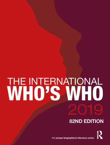 The International Who's Who 2019 book cover