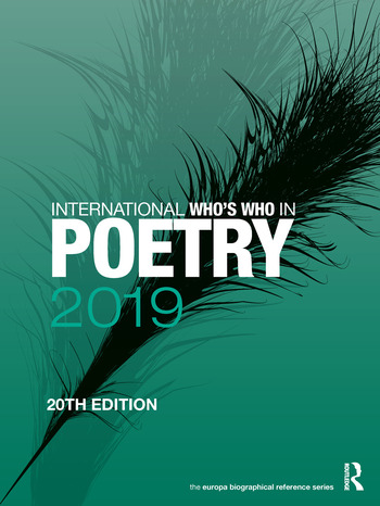 International Who's Who in Poetry 2019 book cover