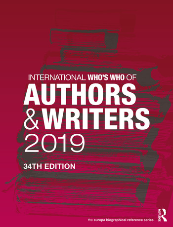 International Who's Who of Authors and Writers 2019 book cover