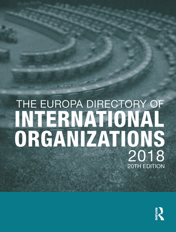 The Europa Directory of International Organizations 2018 book cover