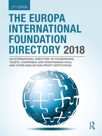 The Europa International Foundation Directory 2018 book cover