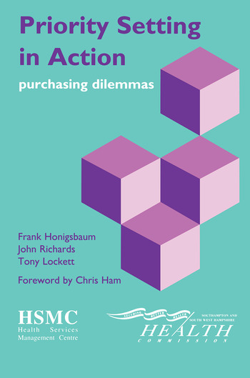 Priority Setting in Action Purchasing Dilemmas book cover