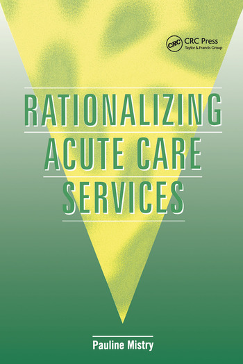 Rationalizing Acute Care Services book cover