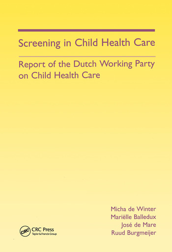 Screening in Child Health Care Report of the Dutch Working Party on Child Health Care book cover